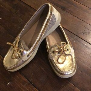 Gold python Sperry Top-Siders